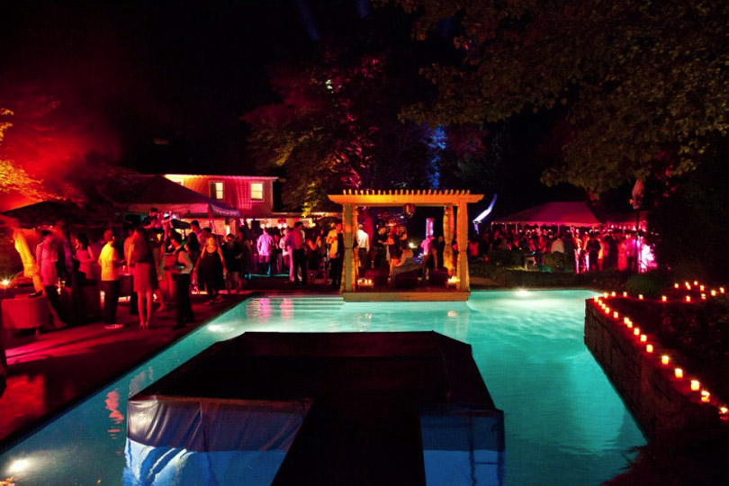 wedding event in pool place