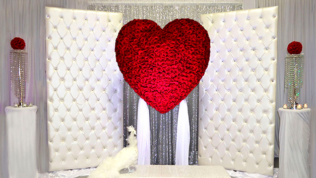 Contemporary dcor ideas for a low budget indian wedding glamorous heart in wedding place junglespirit Gallery