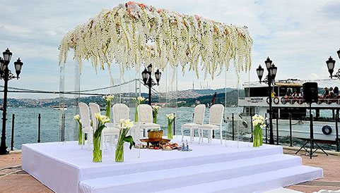 wedding stage on beach