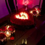 candle heart shape from flowers
