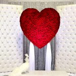 heart in wedding place