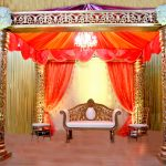 indian weddding stage