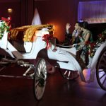 Horse cart wedding theme