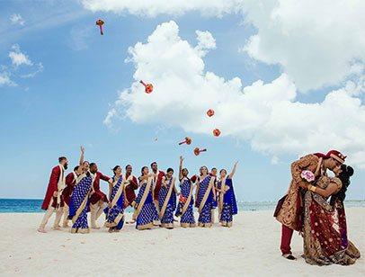 indian wedding on beech